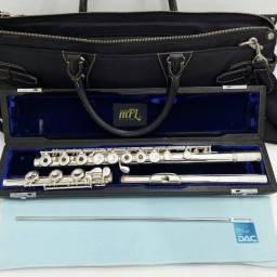 Flauta Transversal EMERSON prata total