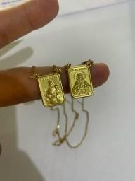 Escapulário ouro 18k - 10 gramas