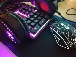 Kit Gamer com luz de Led - Novo