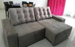 Título do anúncio: Sofa retratil reclinavel erica 240 de largura-Jesus é tudo pra mim!