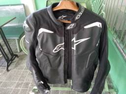 jaqueta alpinestars gp pro - couro premium - preto