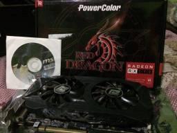 Placa de vídeo AMD Rx 590 8gb Powercolor