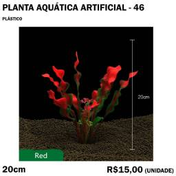Planta Vermelha Artificial de Aquário