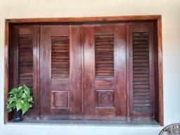 Porta e janela  em pau'arco