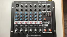 Mesa de som Starmix 6 canais sem uso
