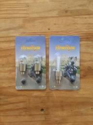 Pito/válvula brilhoso para bike e moto
