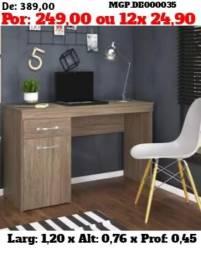 Escrivaninha de Estudo - Mesa de Estudo - Computador - Notebook - Mesa