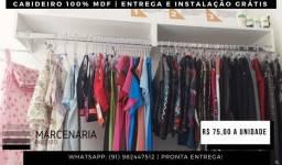 Cabideiro - ENTREGA GRÁTIS -Arara Roupas - 100% Mdf