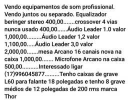 Equipamentos de som profissional