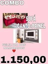 SOFA CANTO+PAINEL 1.150+FRETE