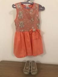 Kit infantil ( vestido miquerita e sapatos)