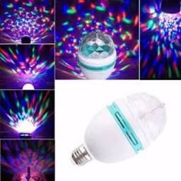 COD: 0069 Lâmpada Led Colorida Giratória Festa Eventos Rgb (entrega gratis)