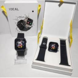 Relógio smartwatch iwo 12 40 m com duas pulseiras