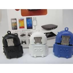 Adaptador OTG - V8 -Para USB Android Robô Para Celular E Tablet OTG
