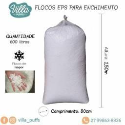 Título do anúncio: Flocos EPS (isopor) A granel - 600 Litros para Construção Civil