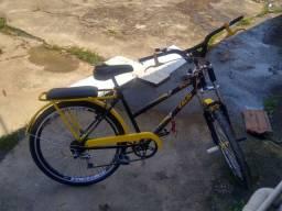 Bicicleta POTI Caloi preta e amarela
