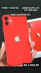 Título do anúncio: IPhone 11 64gb Red