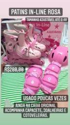Patins rosa in-line