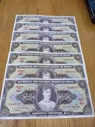 Cédulas de $ 50 Cruzeiros