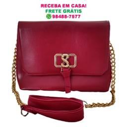 Bolsa Feminina Luxo Vermelha (Média) | Entrega Grátis