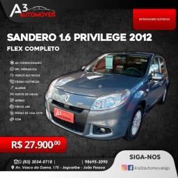 Sandero 1.6 Privilege 2012 Completo!!!!
