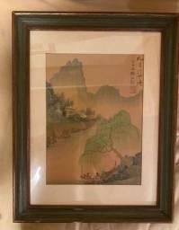 Quadro com moldura Decorativo desenho chinês - 45 x 35 cm