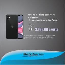 Promocão Iphone 11 - 64 gb -Impecavel Seminovo - 11 meses de Garantia apple Setubaltek