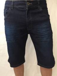 Bermuda jeans e bermuda preta rasgada destroyed