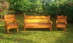 Conjunto de sofa tipo namoradeira
