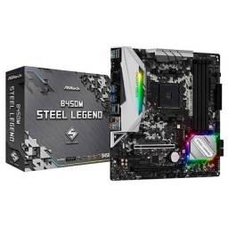 Placa mae b450M steel legend