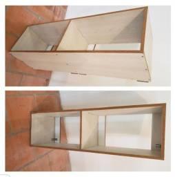 Título do anúncio: Estante simples nicho de madeira em mdf