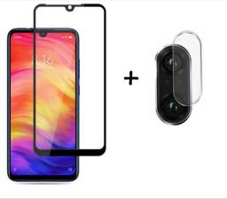 Kit Película de Vidro 9D para Xiaomi Redmi Note 7