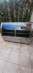 Vendo balcão expositor refrigerado 220V com regulagem de intensidade e luz