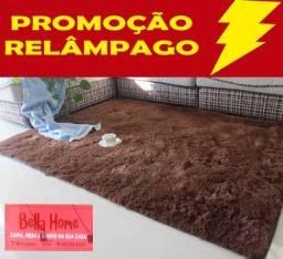 Promoção Tapete Peludo 2,00m x 1,50m cor marrom