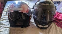 Vende se 2 capacetes