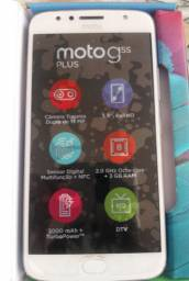 Vendo Moto G5S Plus Dual chip Dtv 32 GB Azul Topazio XT1802 - Usado mas novíssimo.