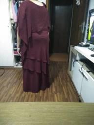Vestido longo festa plus size 50
