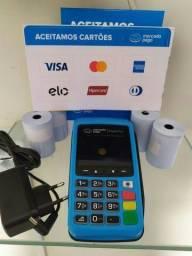 Maquina de cartão vendo ou troco