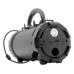 Caixa de Som Bluetooth Portátil Amplificada Canhão Mp3 Usb P2 Pendrive