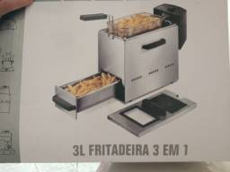 Título do anúncio: Fritadeira Elétrica em inox 1 Cuba 3 Litros 110v