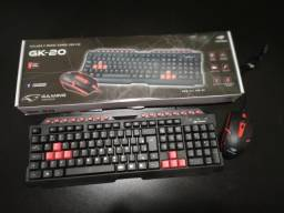 Kit Teclado + Mouse Gamer C3Tech GK-20 - NOVO - Loja Física