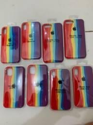 Case silicone arco-íris original Disponíveis pra iPhone 7/8 plus X/Xs Xr  iPhone 11