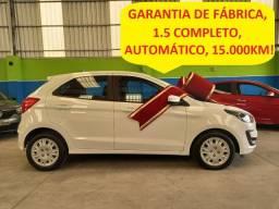 Ford Ka Se 1.5 automático, placa B, apenas 15.000 km,garantia de fábrica, novíssimo!