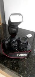 Canon T5I + lente 18-55 + lente 50mm + 2 baterias + carregador