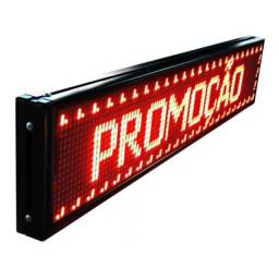 Título do anúncio: Painel De Led Luminoso Wifi Letreiro Digital 1m X 16cm