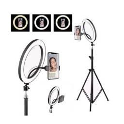 Ringlight p/ maquiagem perfeita para fotos vídeos gravações YouTube profissional