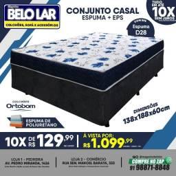 Título do anúncio: Cama Box Casal Espuma