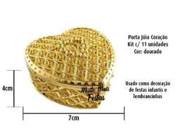Porta Jóia Coração Dourado - 11 unidades