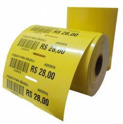 Etiquetas adesivas para codigo de barras