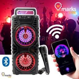 Caixa de Som Torre com Microfone Bluetooth Pendrive Sd Radio BS-232A